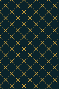 Yellow Crosses On Blue