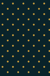Yellow Polka Patten On Green Blue