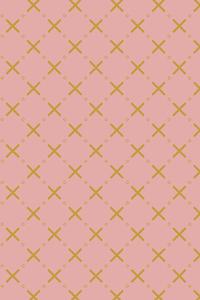 Yellow Cross Pattern On Pink
