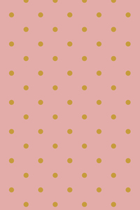 Yellow Polka Pattern On Pink