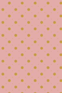 Yellow Polka Dots Pattern On Pink
