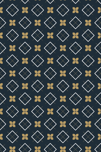 Ethnic Rhombus Pattern On Blue