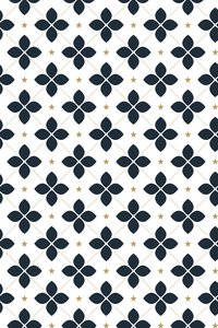 Moroccan Blue Tile Pattern On White