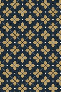 Moroccan Beige Tile Pattern On Blue