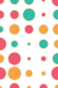 Multicolor Concentric Polka Circles