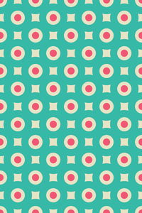 Geometric Circular Pattern On Green
