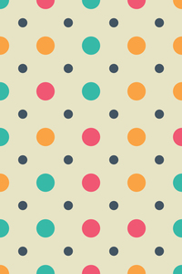 Multicolor Big And Small Circles On Beige