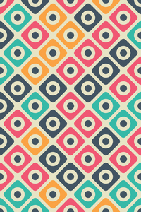Multicolor Moroccan Tile Pattern On Beige