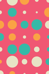 Colorful Circles On Pink