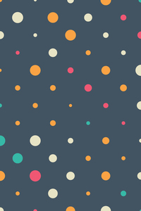 Colorful Polka Dots On Blue