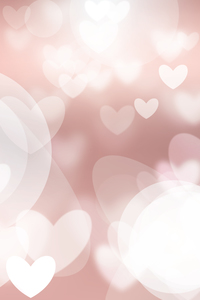 Hearts Bokeh Pattern On Pink