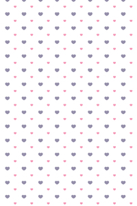 Blue Pink Hearts On White