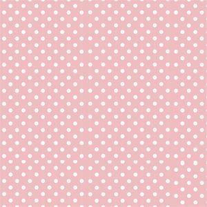 White Polka Dots On Pink Pattern