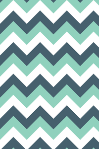Sea Green And White Zigzag Lines