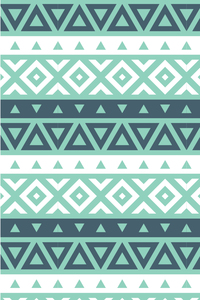 Sea Green And White Aztec Tile