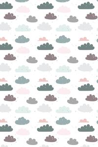 Dark Clouds On White