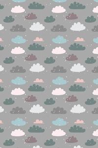 Dark Green Blue Brown Clouds