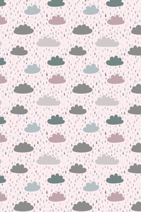Multicolor Clouds And Rain On Pink