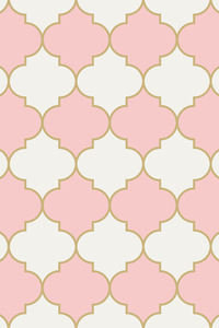 Pink Beige Moroccan Tile Pattern