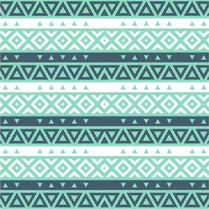 Sea Blue Aztec Pattern