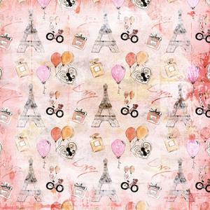 Paris France Eiffel Tower Love In Pink