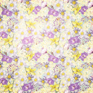 Flower Floral Daffodil Pattern