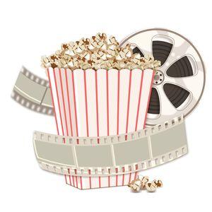 Cinema Reel With Popcorns Bucket