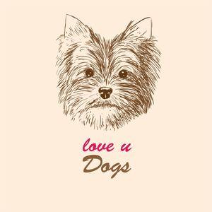 Love U Dogs Illustration