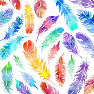 Colourful Feather Pattern