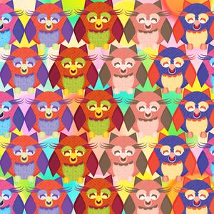 Multicolor Crazy Owl