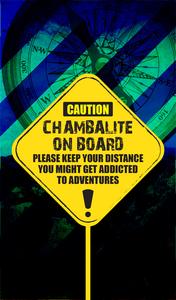 Chambalite On Board On Blue
