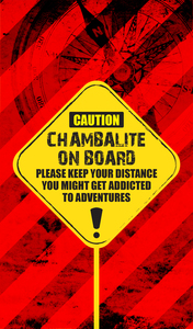 Chambalite On Board On Red