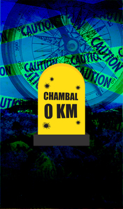 Chambal 0 KM Milestone On Blue