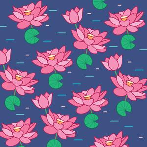Lotus Flowers In Water