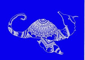 Bohemian Seahorse In Blue