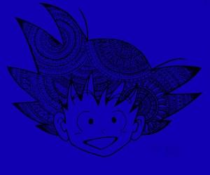 Son Of Goku On Blue