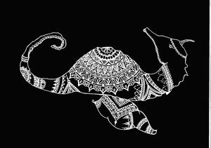 Bohemian Seahorse In Black