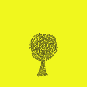 Zentangle Tree On Yellow