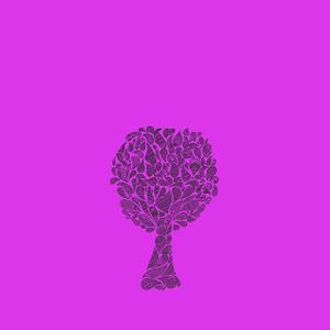 Zentangle Tree On Purple