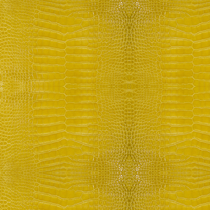 Yellow Alligator Skin Print