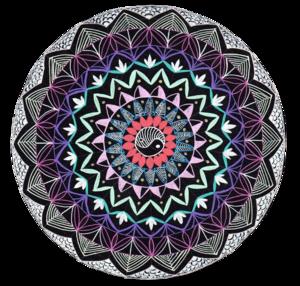 Colorful Yin Yan Mandala