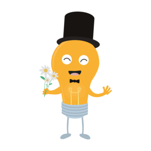 Light Bulb Groom With Flowers