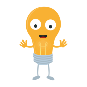 Friendly Light Bulb Happy