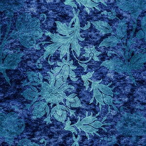 Emerald Blue Damask Pattern 2