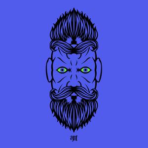 2 Beardiful On Purple