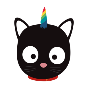 Unicorn Cat With Rainbows