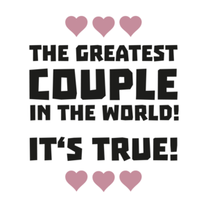 Worlds Greatest Couple Typography