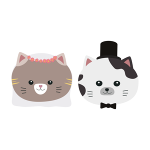 Cat Wedding Couple