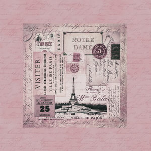 Nostalgic Paris Pink Collage