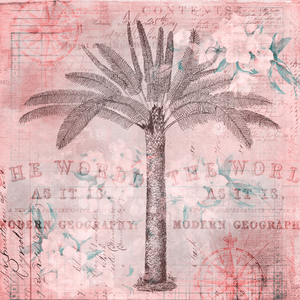 Retro Travel Palm Tree Art